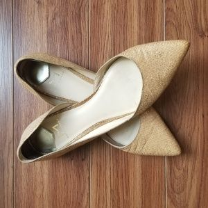 Marc Fisher Shoes - Marc Fisher 8.5 POINTY FLATS d'Orsay metallic nude